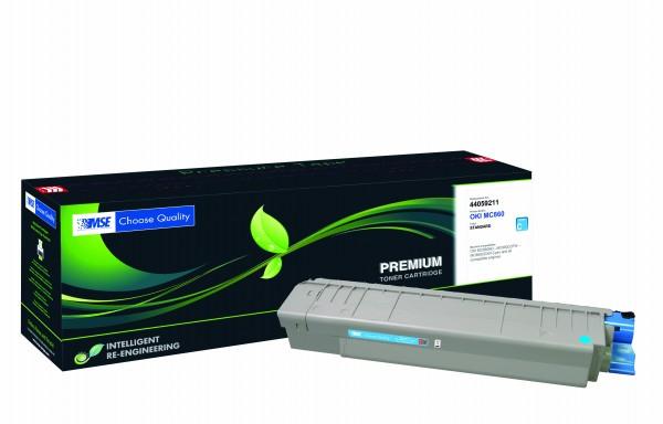 MSE Premium Farb-Toner für Oki MC860 Cyan - kompatibel mit 44059211