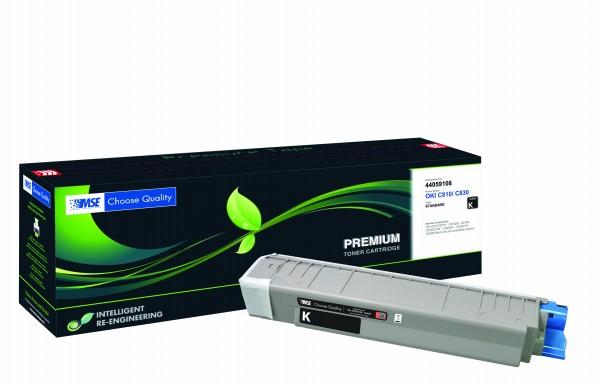 MSE Premium Farb-Toner für Oki C810/C830 Black - kompatibel mit 44059108