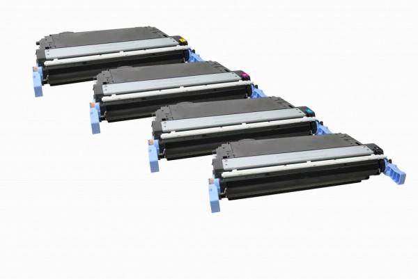 MSE Premium Farb-Toner für HP Color LaserJet CP4005 CMYK Multipack - kompatibel mit CB400A/01A/02A/0
