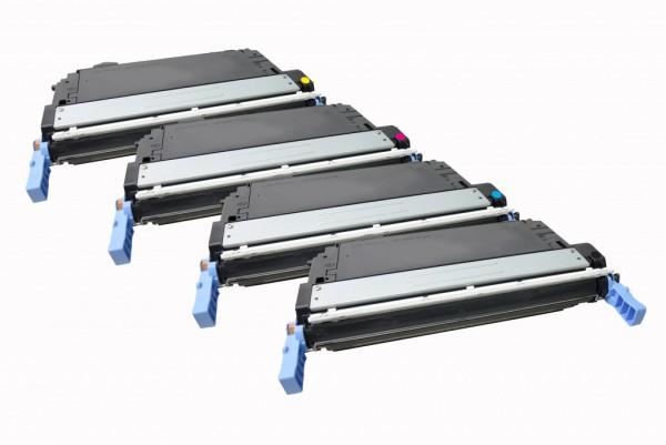 MSE Premium Farb-Toner für HP Color LaserJet 4700 CMYK Multipack - kompatibel mit Q5950A/51A/52A/53A