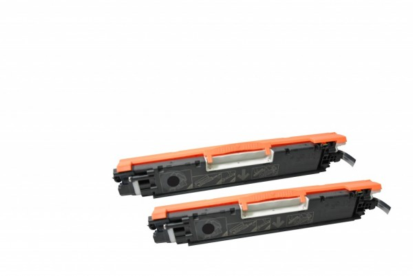 MSE Premium Farb-Toner für HP Color LaserJet CP1025 (126A) Black Twin Pack - kompatibel mit CE310AD