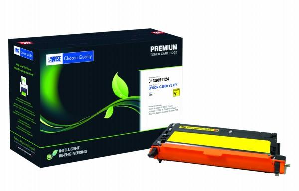 MSE Premium Farb-Toner für Epson Aculaser C3800 Yellow High Yield - kompatibel mit C13S051124