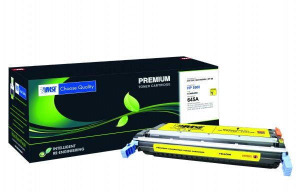 MSE Premium Farb-Toner für HP Color LaserJet 5500 (645A) Yellow - kompatibel mit C9732A