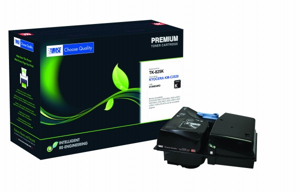 MSE Premium Farb-Toner für Kyocera KM-C2520 Black - kompatibel mit TK-825K