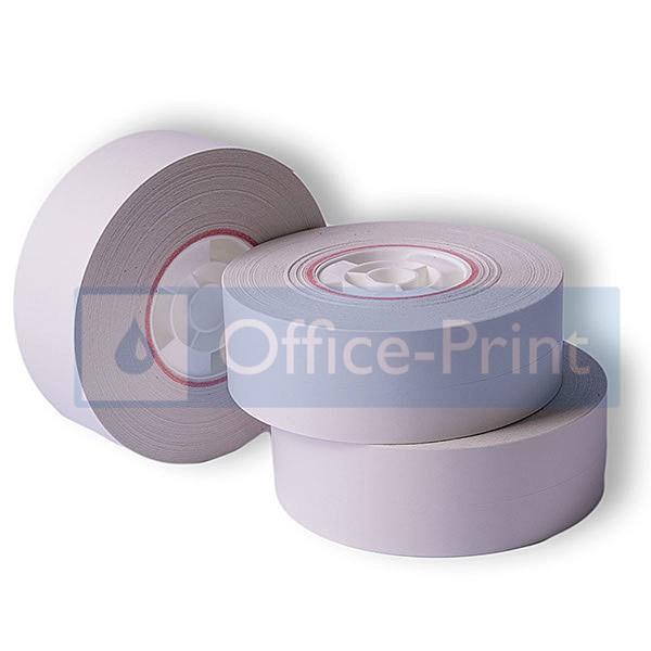 3 Office-Print Frankierstreifenrollen selbstklebend passend für Pitney Bowes DM800-Serie