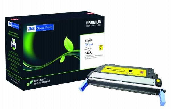MSE Premium Farb-Toner für HP Color LaserJet 4700 (643A) Yellow - kompatibel mit Q5952A