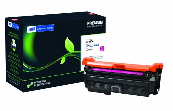 MSE Premium Farb-Toner für HP Color LaserJet M651 (654A) Magenta - kompatibel mit CF333A