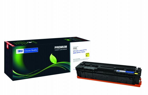 MSE Premium Farb-Toner für HP Color LaserJet Pro M252 (201A) Yellow - kompatibel mit CF402A