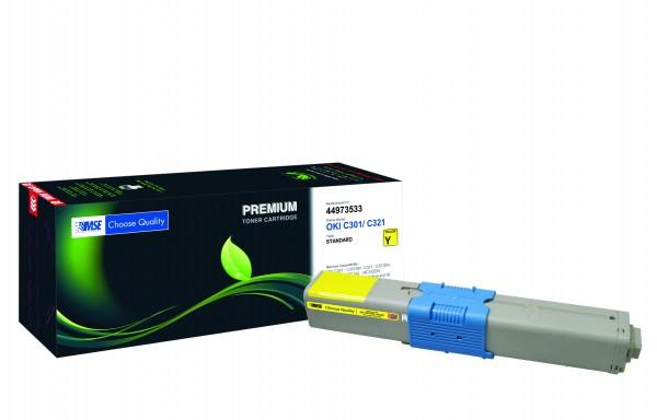 MSE Premium Farb-Toner für Oki C301/C321 Yellow - kompatibel mit 44973533