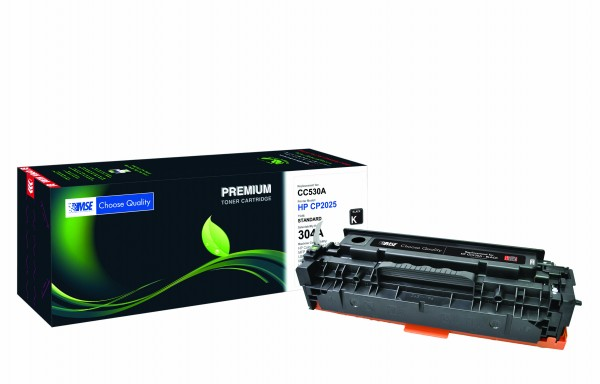 MSE Premium Farb-Toner für HP Color LaserJet CP2025 (304A) Black - kompatibel mit CC530A