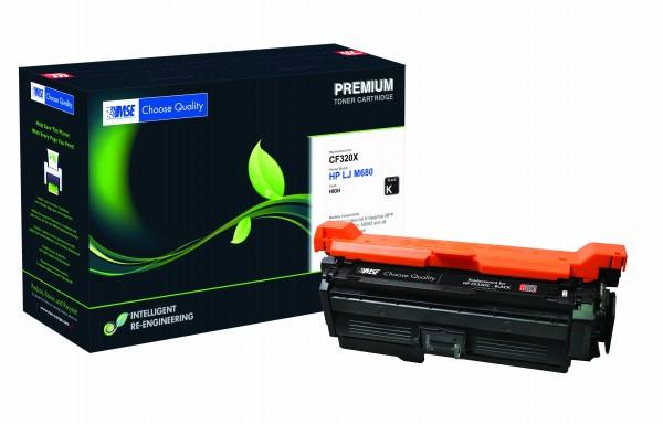 MSE Premium Farb-Toner für HP Color LaserJet M680 (653X) Black High Yield - kompatibel mit CF320X