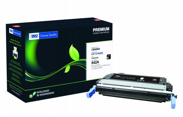 MSE Premium Farb-Toner für HP Color LaserJet CP4005 (642A) Black - kompatibel mit CB400A