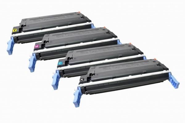 MSE Premium Farb-Toner für HP Color LaserJet 4600 CMYK Multipack - kompatibel mit C9720A/21A/22A/23A