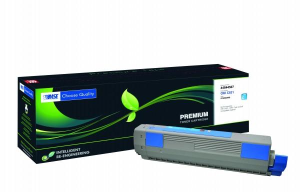 MSE Premium Farb-Toner für Oki C831 Cyan - kompatibel mit 44844507