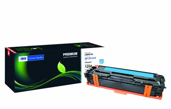 MSE Premium Farb-Toner für HP Color LaserJet CP1215/CP1515 (125A) Cyan - kompatibel mit CB541A