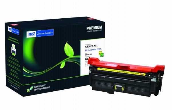 MSE Premium Farb-Toner für HP Color LaserJet CP4025 Yellow XXL - kompatibel mit CE262A-XXL