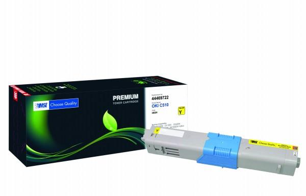 MSE Premium Farb-Toner für Oki C510 Yellow High Yield - kompatibel mit 44469722