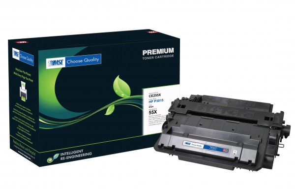 MSE Premium Toner für HP LaserJet P3015 (55X) High Yield - kompatibel mit CE255X