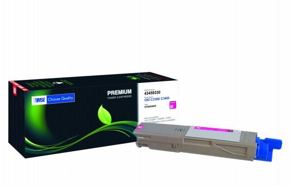 MSE Premium Farb-Toner für Oki C3300/C3400 Magenta - kompatibel mit 43459330