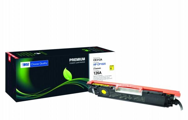 MSE Premium Farb-Toner für HP Color LaserJet CP1025 (126A) Yellow - kompatibel mit CE312A