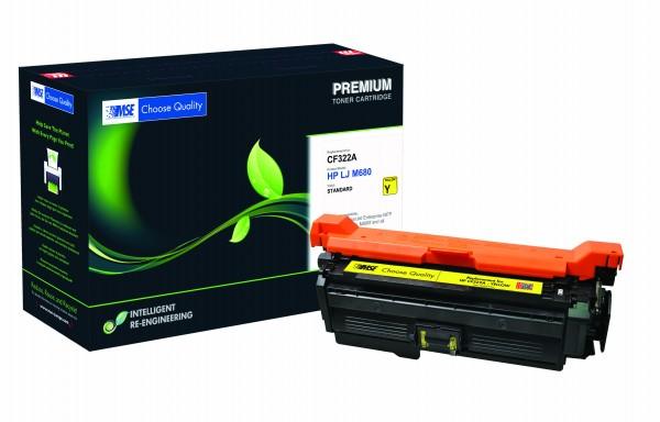 MSE Premium Farb-Toner für HP Color LaserJet M680 (653A) Yellow - kompatibel mit CF322A