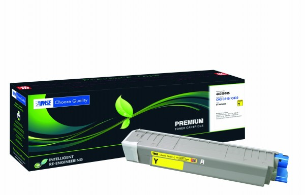 MSE Premium Farb-Toner für Oki C810/C830 Yellow - kompatibel mit 44059105