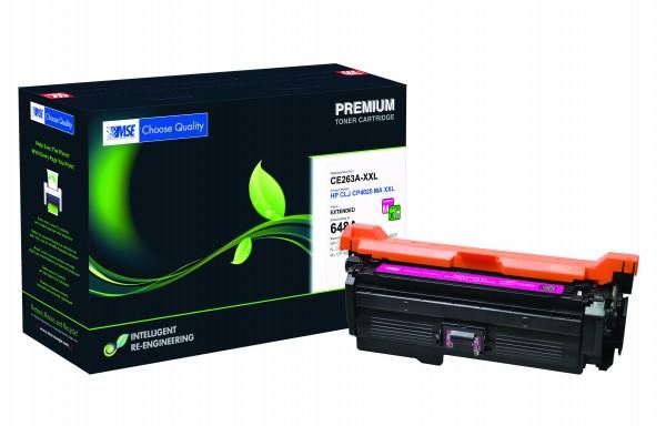 MSE Premium Farb-Toner für HP Color LaserJet CP4025 Magenta XXL - kompatibel mit CE263A-XXL