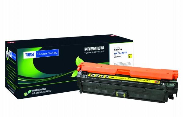 MSE Premium Farb-Toner für HP Color LaserJet M775 (651A) Yellow - kompatibel mit CE342A