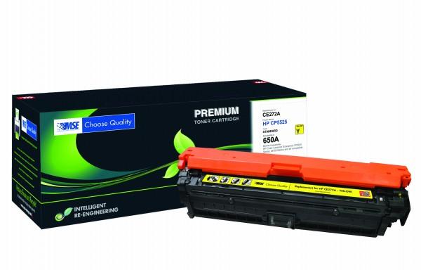 MSE Premium Farb-Toner für HP Color LaserJet CP5525 (650A) Yellow - kompatibel mit CE272A