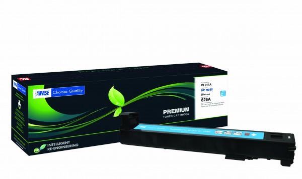 MSE Premium Farb-Toner für HP Color LaserJet M855 (826A) Cyan - kompatibel mit CF311A