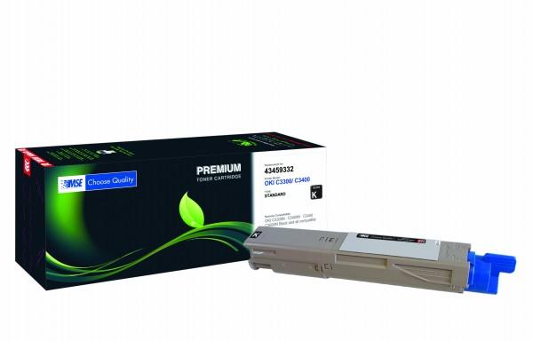 MSE Premium Farb-Toner für Oki C3300/C3400 Black - kompatibel mit 43459332