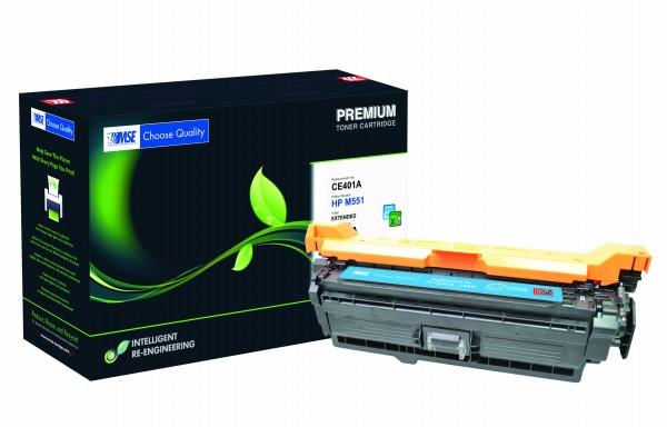 MSE Premium Farb-Toner für HP Color LaserJet M551 Cyan XXL - kompatibel mit CE401A-XXL