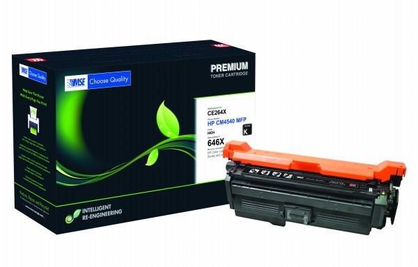 MSE Premium Farb-Toner für HP Color LaserJet CM4540 Black High Yield - kompatibel mit CE264X