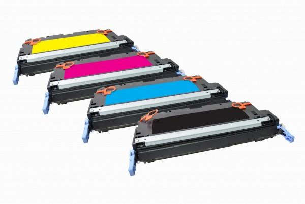 MSE Premium Farb-Toner für HP Color LaserJet 3800/CP3505 CMYK Multipack - kompatibel mit Q6470A/81A/