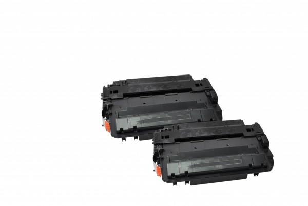 MSE Premium Toner für HP LaserJet P3015 (55X) High Yield Twin Pack - kompatibel mit CE255XD