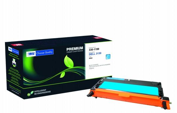 MSE Premium Farb-Toner für Dell 3110CN Cyan High Yield - kompatibel mit 593-10171