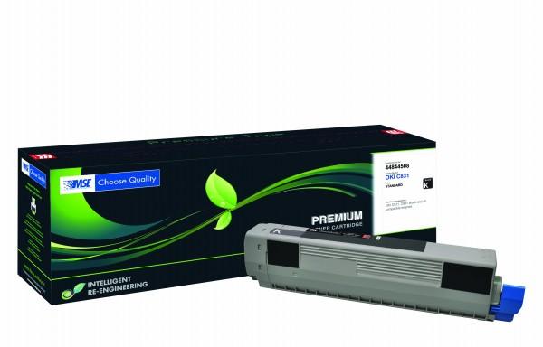 MSE Premium Farb-Toner für Oki C831 Black - kompatibel mit 44844508