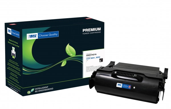 MSE Premium Toner für Lexmark X651 - kompatibel mit X651A21E