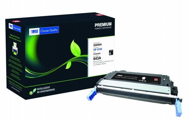 MSE Premium Farb-Toner für HP Color LaserJet 4700 (643A) Black - kompatibel mit Q5950A