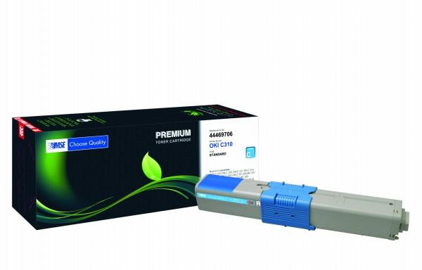 MSE Premium Farb-Toner für Oki C310 Cyan - kompatibel mit 44469706